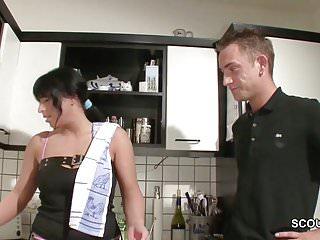 Fucking hot virgin German hot step-mom seduce to fuck by virgin step-son