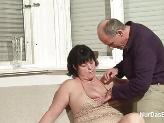 Real hardcore virgin porn - German granny and grandpa in real porn casting for money