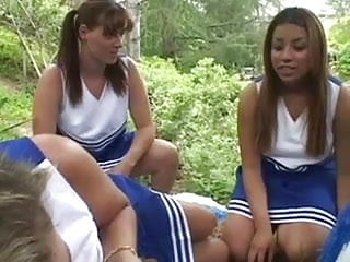 Chunky white vaginal discharge - Black and white chunky cheerleaders use sex toys