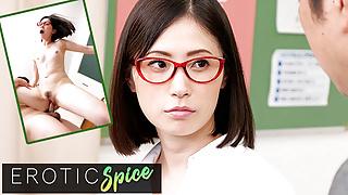 DEVIANTE - Japanese school teacher cheats with co-worker