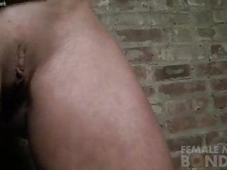 Woman clamps her own breasts Claire - nipple clamps in the dungeon