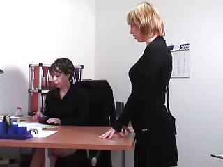 Asian office lesbians - Office lesbians turn it up a notch