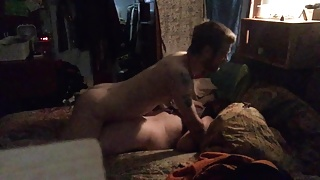 Hot young cock fucks me in my bed while husband is out