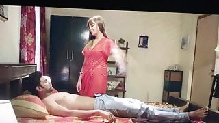 Moaning tribute to milky desi wife having sex on first night