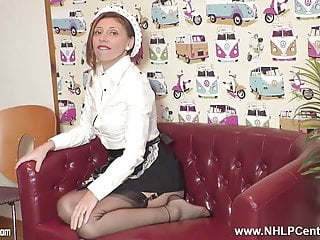 Girls getting fucked for cart repaire Sexy french waitress wanks ala carte in retro basque nylons