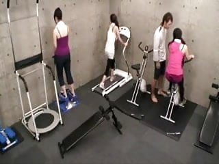 Trainer naked Japanese trainer gets erection at the gym