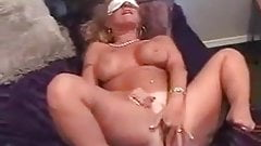 Blindfolded mom shared cock with blindfolded daughter