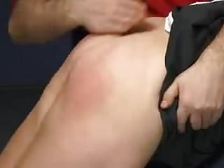 Spanking a girl on the bare bottom Schoolgirl bare-bottom spanking
