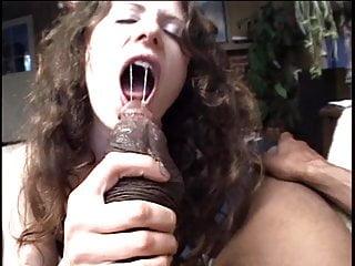 Slut submissive white Huge black snake slurped by submissive white brunette milf