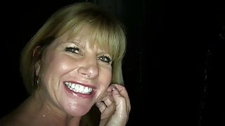 Older Woman At Glory Hole makes Dick Cum Quick