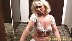 Tantalizing mature slut is so horny while she masturbates
