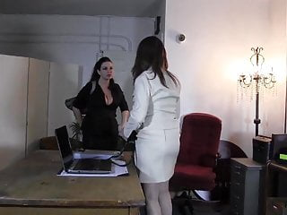 Lady barbara bondage Business lady tied up in the office