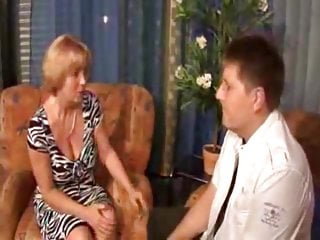 Older mom nude - Older mom seducing and fucking her chubby stepson