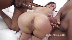 Briana Bounce gangland style 3on1 interracial DP in that Bi