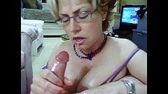 Hot Milf Oil Hand Job Tit Cum