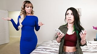 MILF finds out her babysitter is a lesbian
