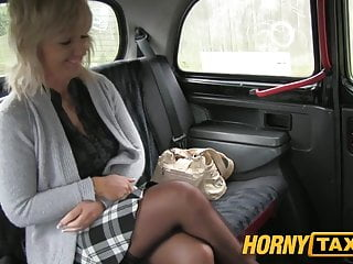 Mom has boobs - Hornytaxi mature blonde mom has the ride of her life