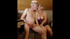 Old couple playing