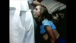 Classic Scenes - Little Oral Annie deepthroats Ron Jeremy
