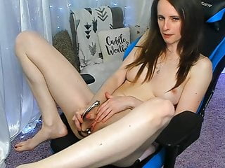 Big nude american girls Nude gamer fingering her tight pussy