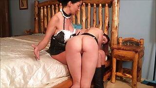 Maid spanking