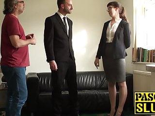 Cassie nude - Businesswoman cassie de la rage ass domination in bondage