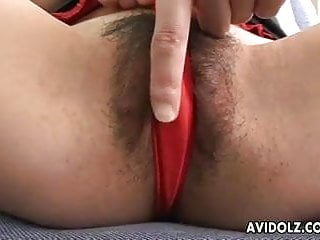 Rubbing her clit hard Asian babe is rubbing on her sweet clit hard
