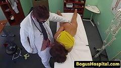 Cocksucking euro amateur fucks her doctor