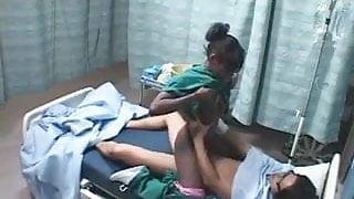 Horny nurse fucks patient