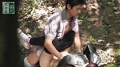 Mature Asian Orostitute With Younger Client Outdoors