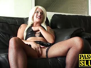 Girl chocked on a dick - Hot blonde babe roxy mae gets chocked and pussy fingered