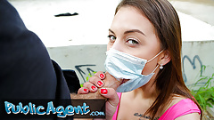 Public Agent, fucking a sexy and sweet teen with face mask