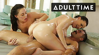 Lesbian Masseuses Vie For Charles Dera's Dick