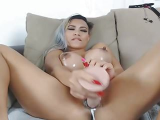 Huge fake tits doggystyle Huge fake tits asian squirts on playing her pussy