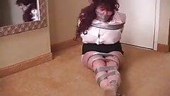 curvy elane taped up  wrap gagged