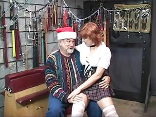 Dungeon torture nude - Hot, mature redhead gets her ass tortured in the dungeon