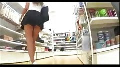 Upskirt When Clueless Slut Goes Shopping