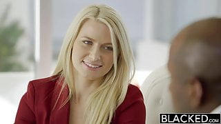 BLACKED - Business Blonde Anikka Albrite Ass Fucked By a BBC