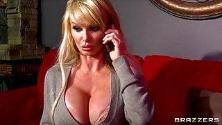 Big-tit British MILF Taylor Wane gets a late night booty cal