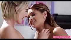 Hot lesbian kiss (girls blonde )