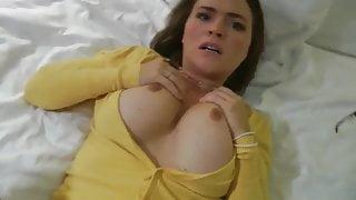 Horny stepmom gets accidental creampie