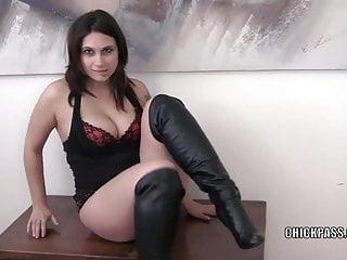 Big tit bangers sara Horny brunette ritzy banger fucks her twat with a dildo