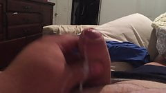Close Up Of A Huge Load Of Cum Out Of My Uncut Cock