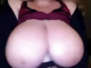 Small white boobs - Mature lady play with huge white boobs bbw on webcam
