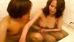 Busty mature gets fucked in the tub