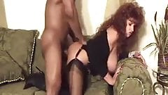 Milf in stockings takes bbc from behind