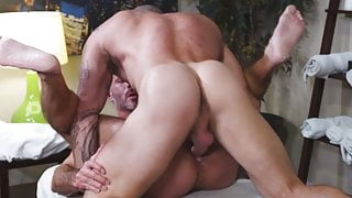 Huge dick customer gets anal treatment