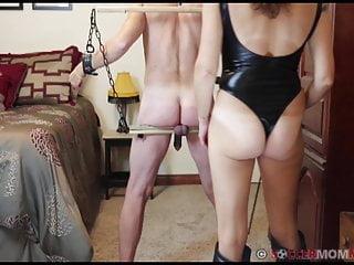 My femdom clips ball destruction Strapon destruction of cuckold husbands sissy pussy