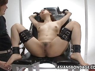 Submitted asian vids Tied up and submitted to some pussy stimulation