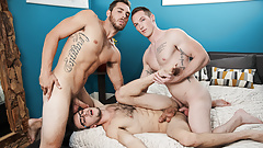 School Buddies Having Anal Threesome